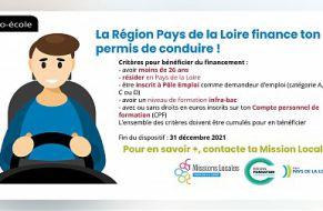 LA REGION DES PAYS DE LA LOIRE FINANCE TON PERMIS DE CONDUIRE
