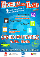 Affiche Forum des jobs 2017